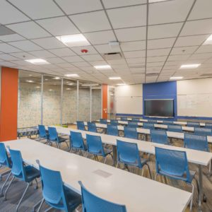 CAST Tech High School classroom by smartt interior construction