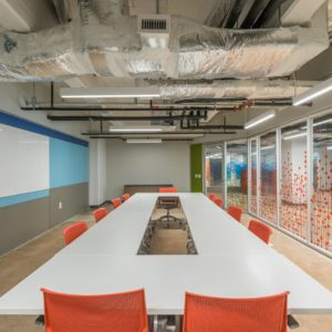 smartt interior designs orange board room