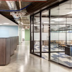 cubicles and see-through offices built by smartt interior construction