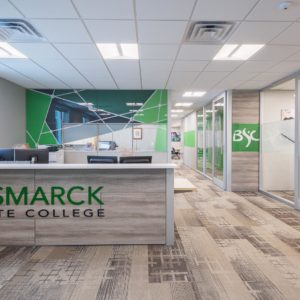 Bismarck State College reception area