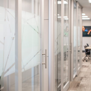 See-through sliding doors at BSC by Smartt